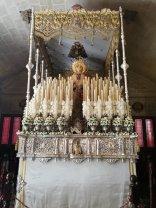 Paso de Palio en el interior de la Basílica